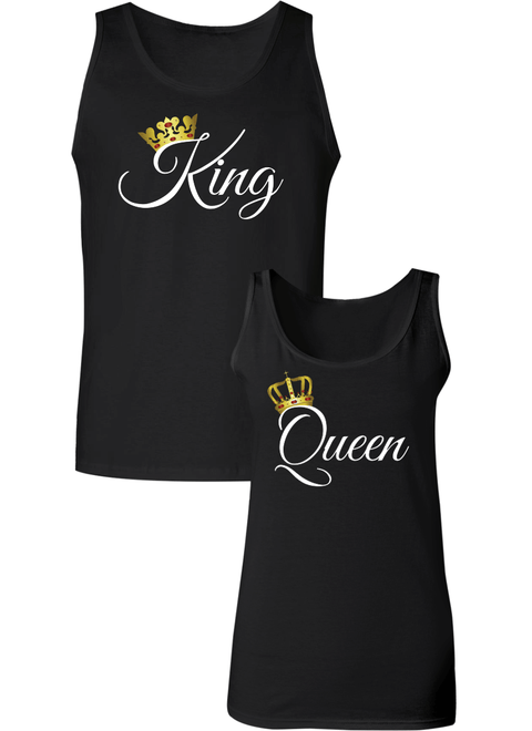 King and Queen Couple Tanks