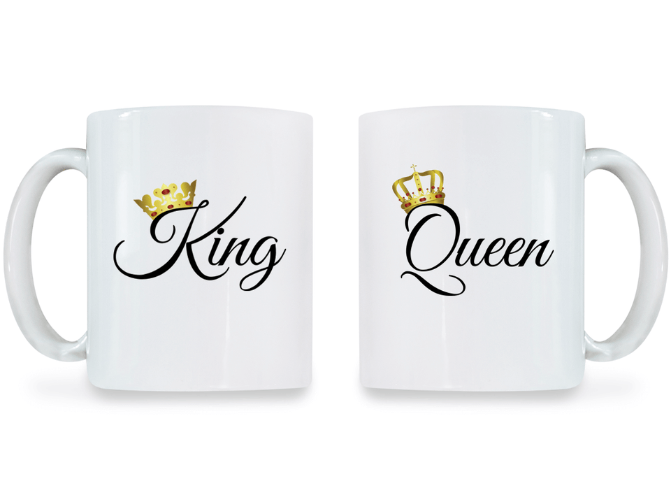 King and Queen - Couple Coffee Mugs