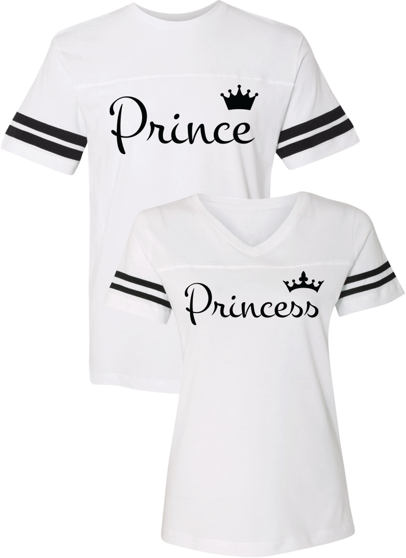 Prince and Princess Couple Sports Jersey