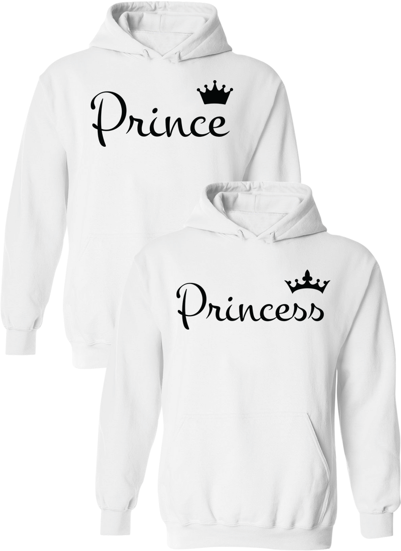 Prince and Princess Matching Couple Hoodies