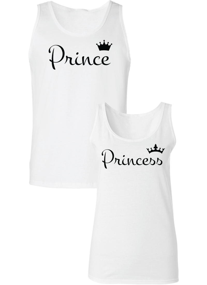 Prince and Princess Couple Tanks