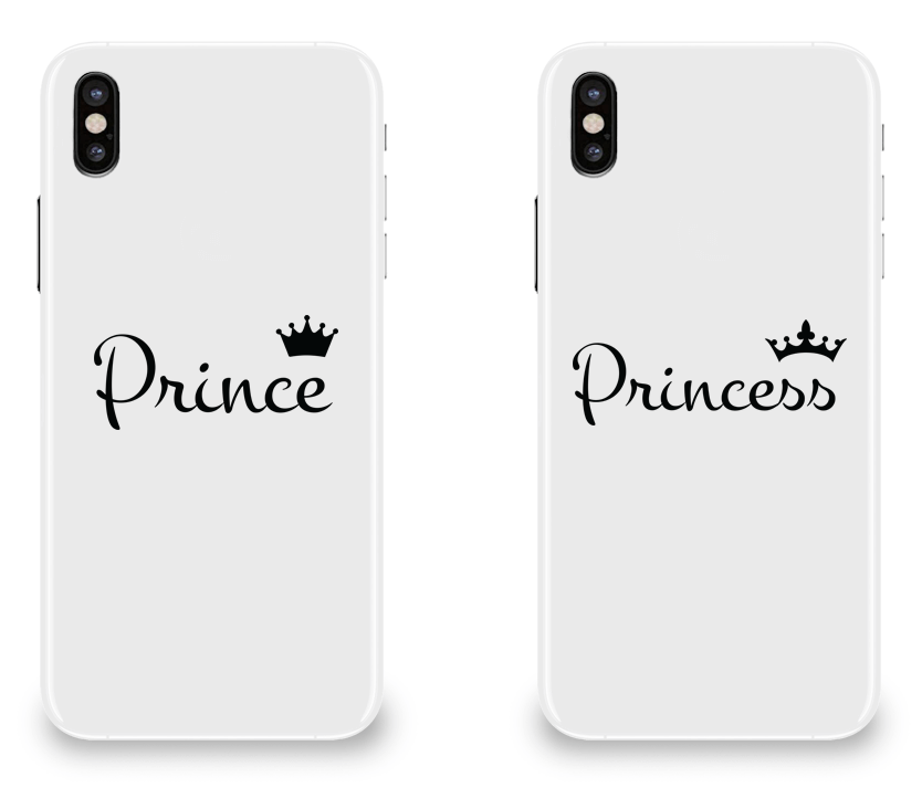 Prince and Princess - Couple Matching iPhone X Cases