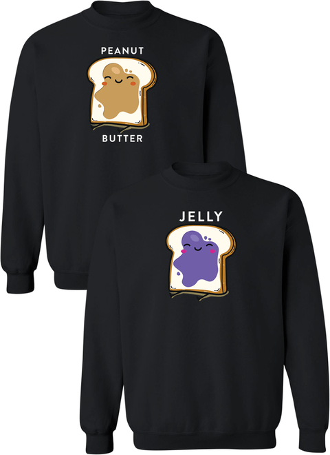 Peanut Butter and Jelly Couple Matching Sweatshirts