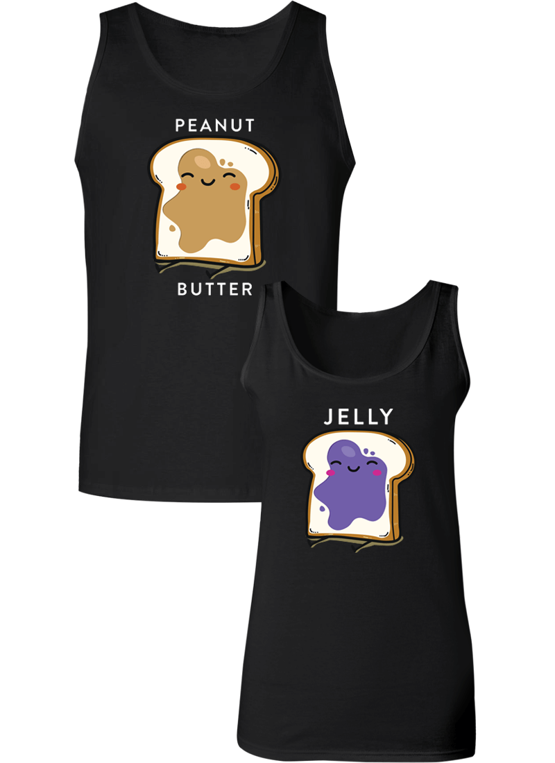 Peanut Butter and Jelly Couple Tanks
