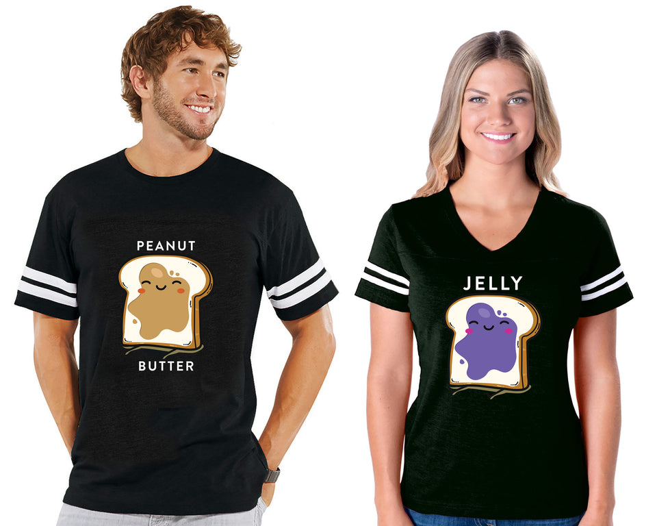 Peanut Butter & Jelly - Couple Cotton Jerseys