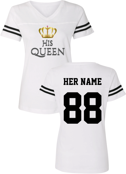 Her King & His Queen - Couple Cotton Jerseys