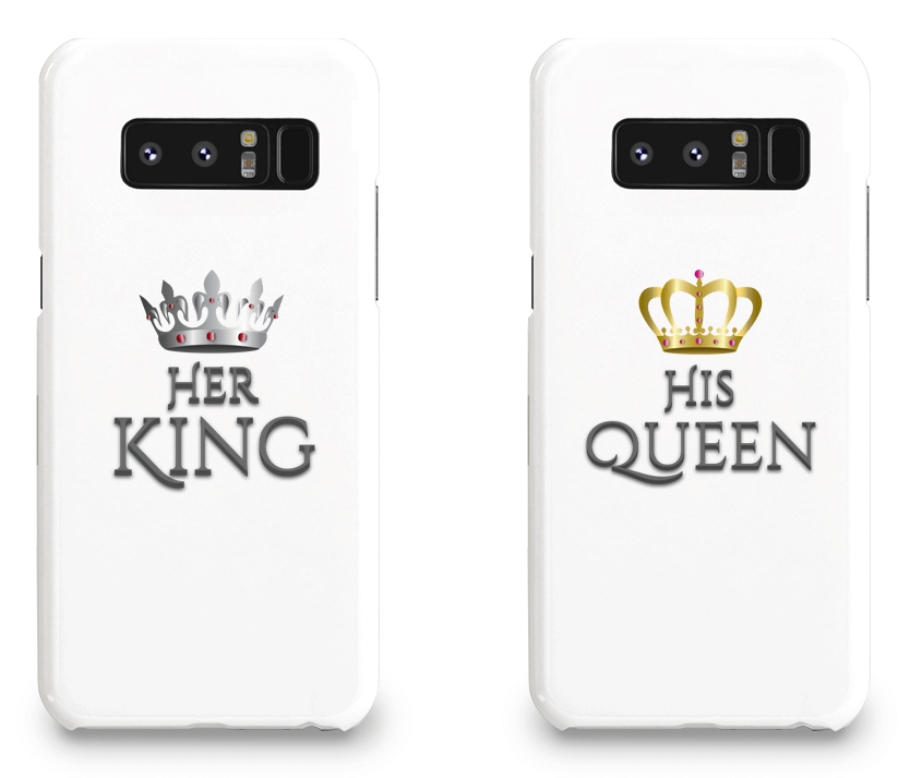 Her King and His Queen - Couple Matching Phone Cases