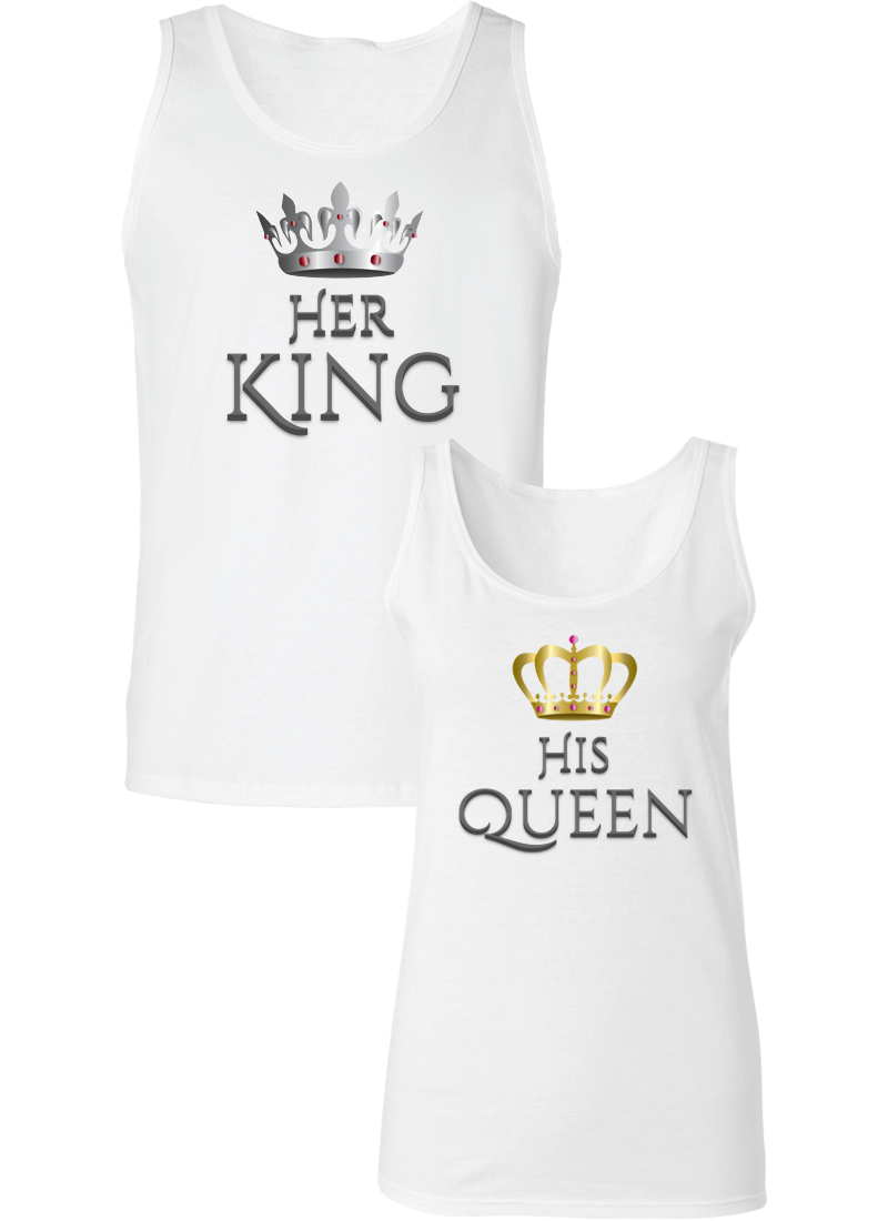 Her King and His Queen Couple Tanks