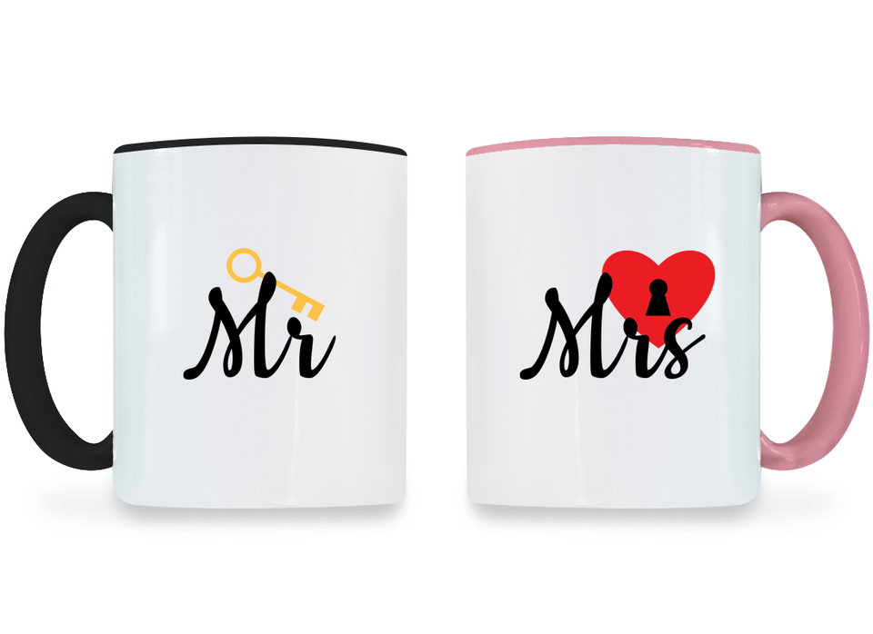 Mr. and Mrs. - Couple Coffee Mugs