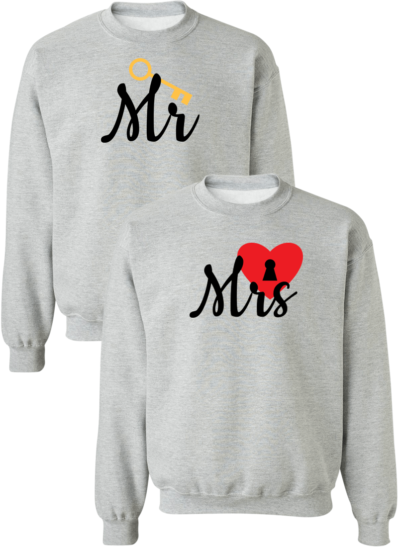 Mr. and Mrs. Couple Matching Sweatshirts