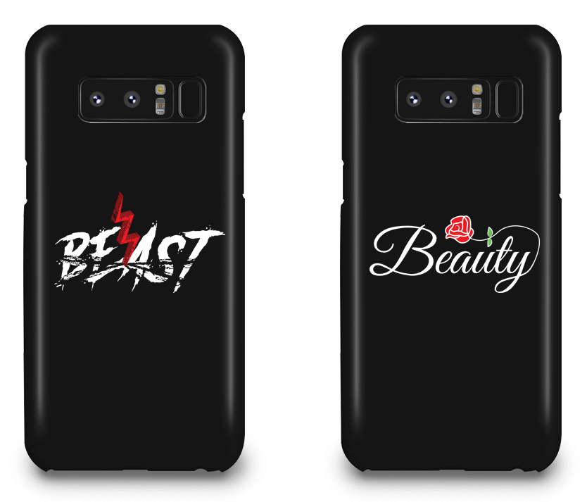 Beast and Beauty - Couple Matching Phone Cases