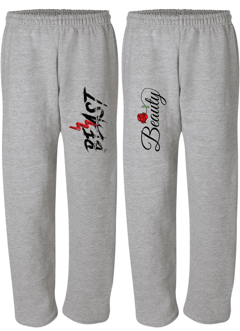 Beast & Beauty - Couple Matching Sweatpants