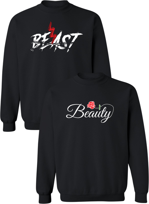Beast and Beauty Couple Matching Sweatshirts