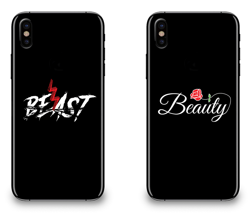Beast and Beauty - Couple Matching iPhone X Cases