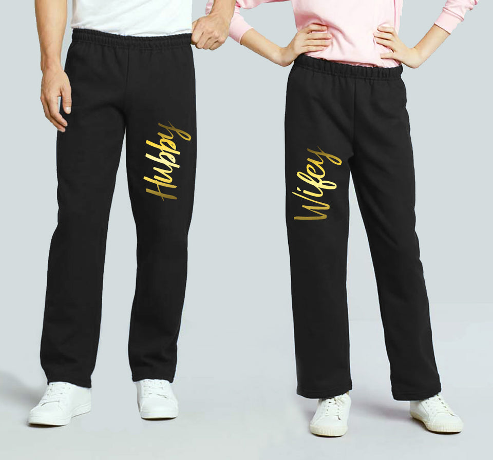 Hubby & Wifey - Couple Matching Sweatpants