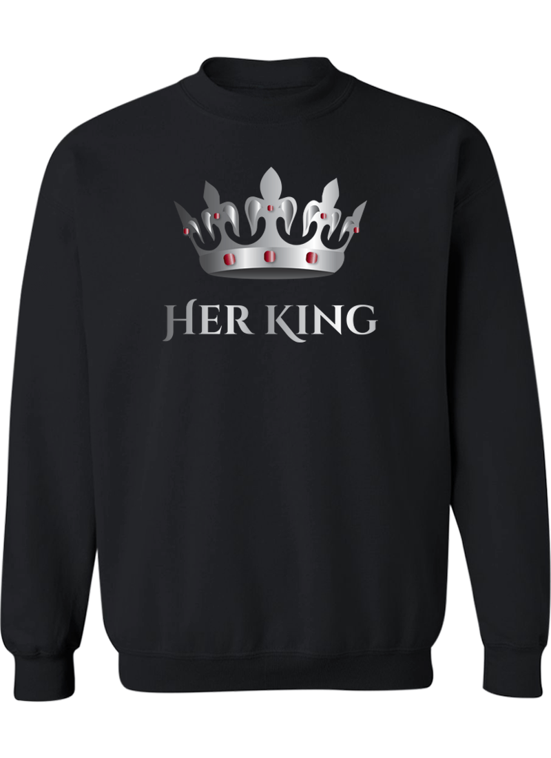 Her King & His Queen - Couple Sweatshirts