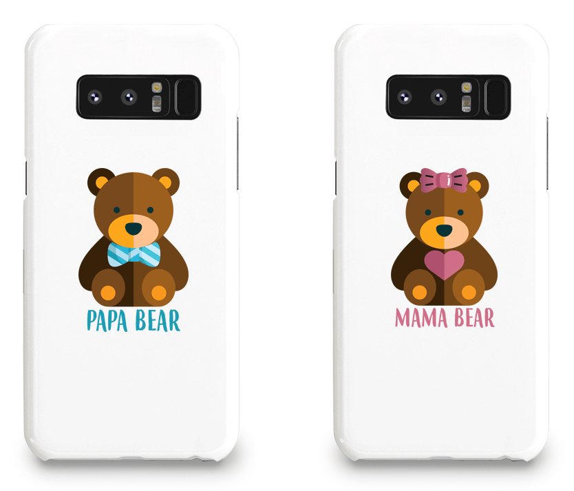 Mama Bear and Papa Bear - Couple Matching Phone Cases