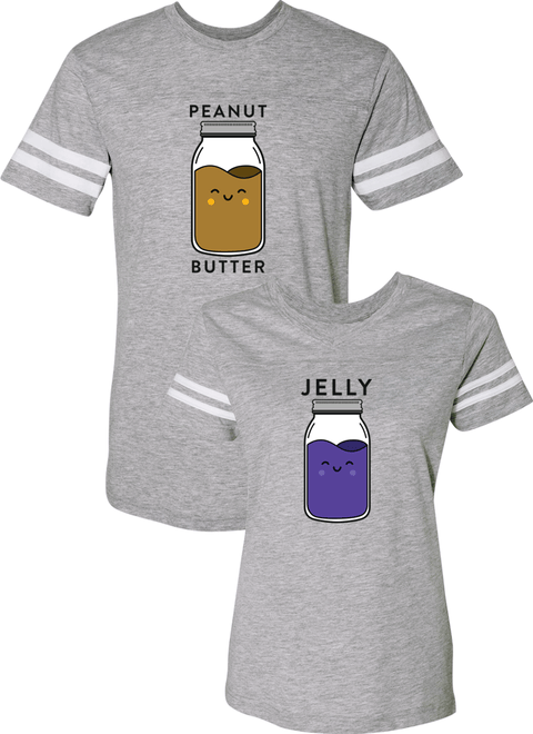 Peanut Butter and Jelly Couple Sports Jersey