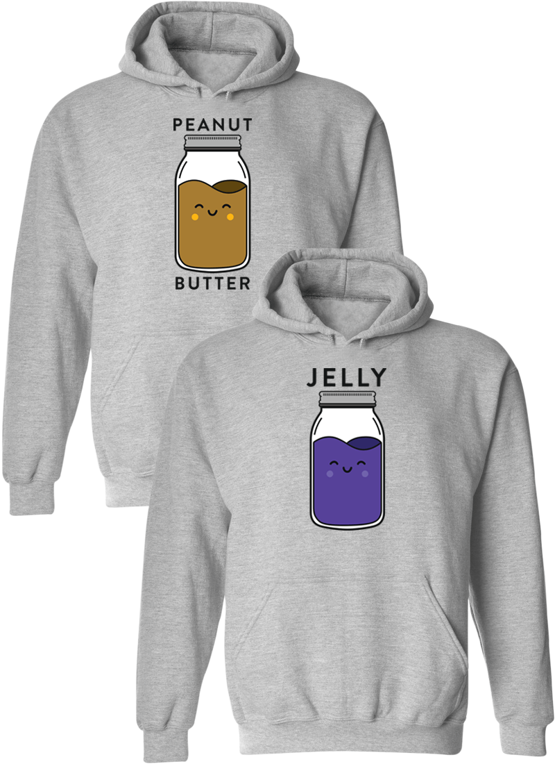 Peanut Butter and Jelly Matching Couple Hoodies