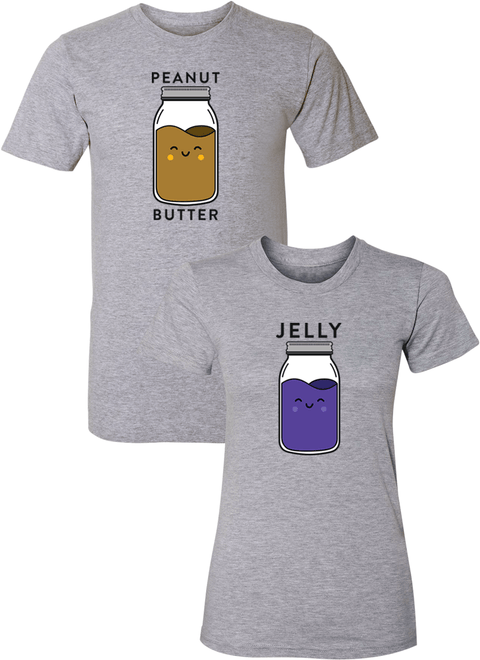 Peanut Butter and Jelly Couple Matching Shirts