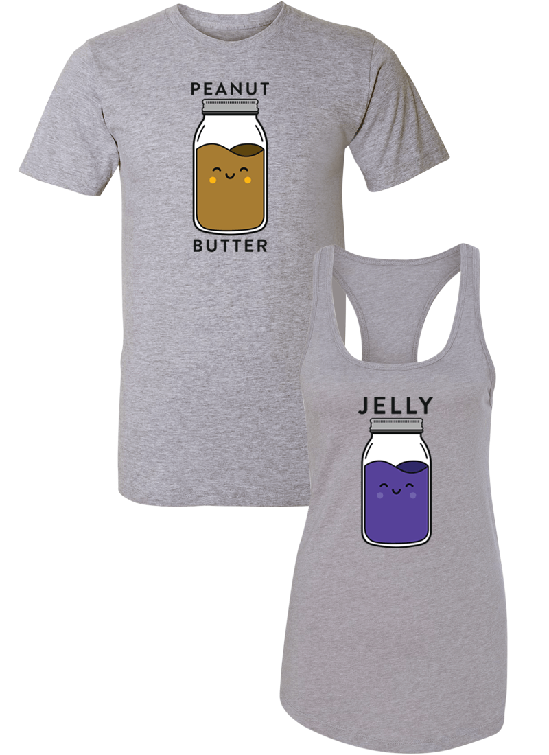 Peanut Butter and Jelly - Couple Shirt Racerback