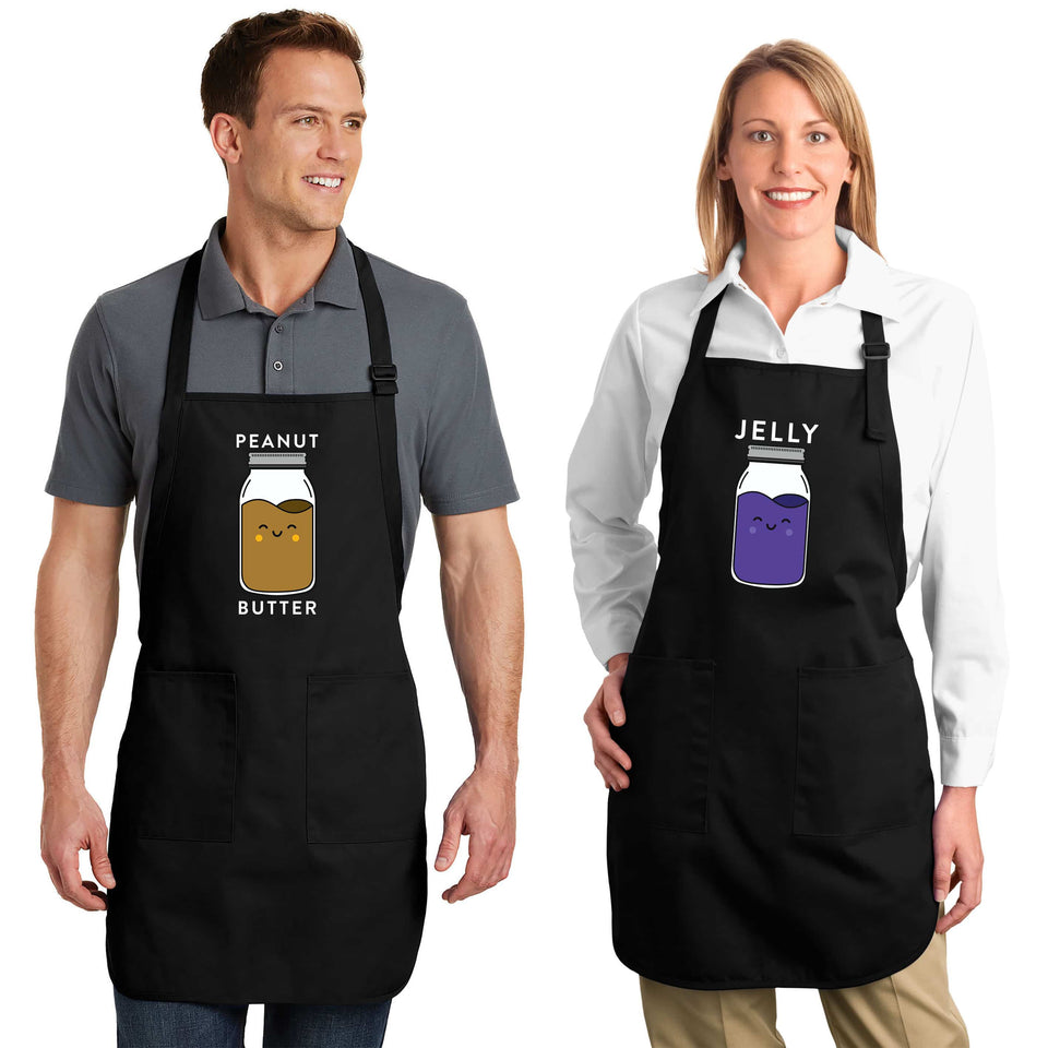 Peanut Butter & Jelly - Couple Aprons