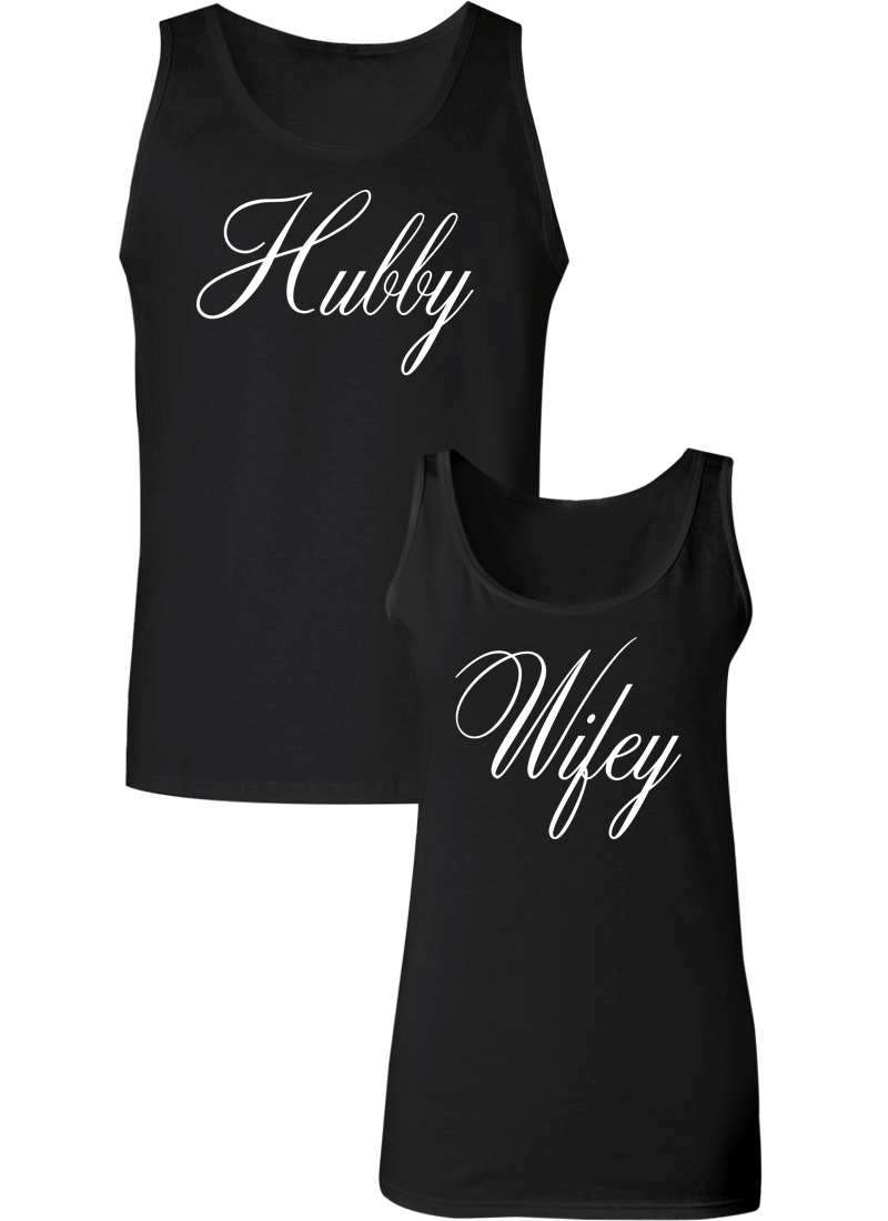 Hubby and Wifey Couple Tanks