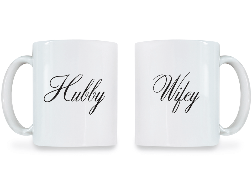 Hubby and Wifey - Couple Coffee Mugs