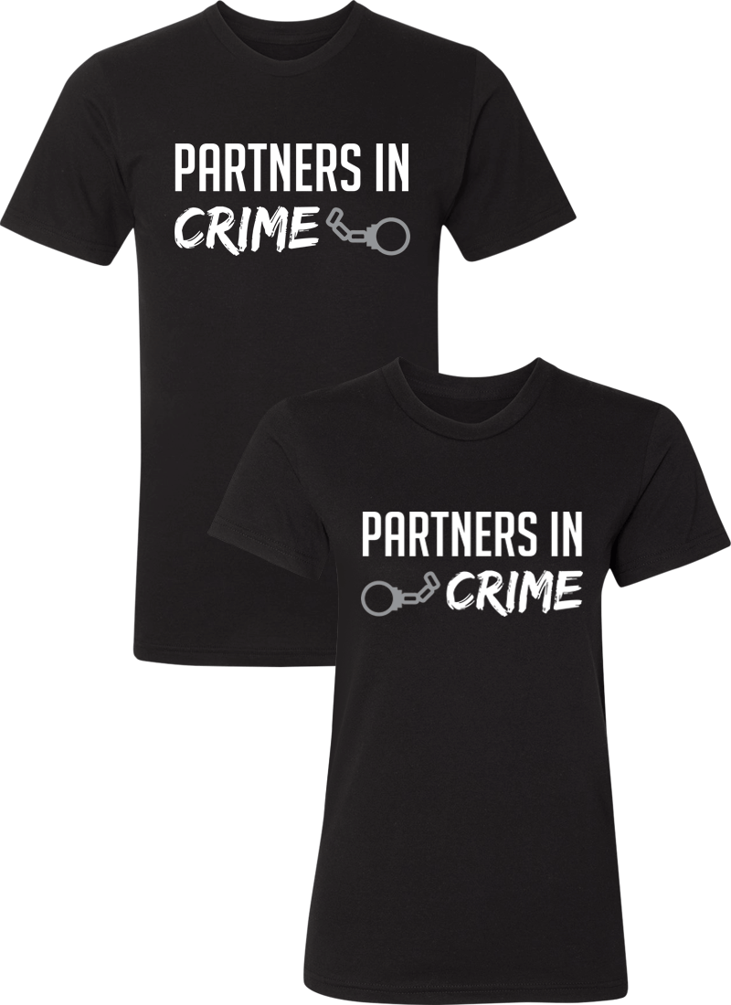 Partners in Crime Couple Matching Shirts