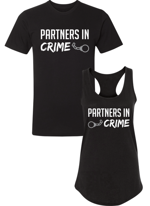 Partners in Crime - Couple Shirt Racerback
