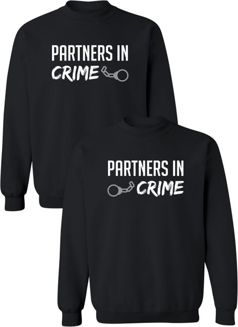 Partners in Crime Couple Matching Sweatshirts