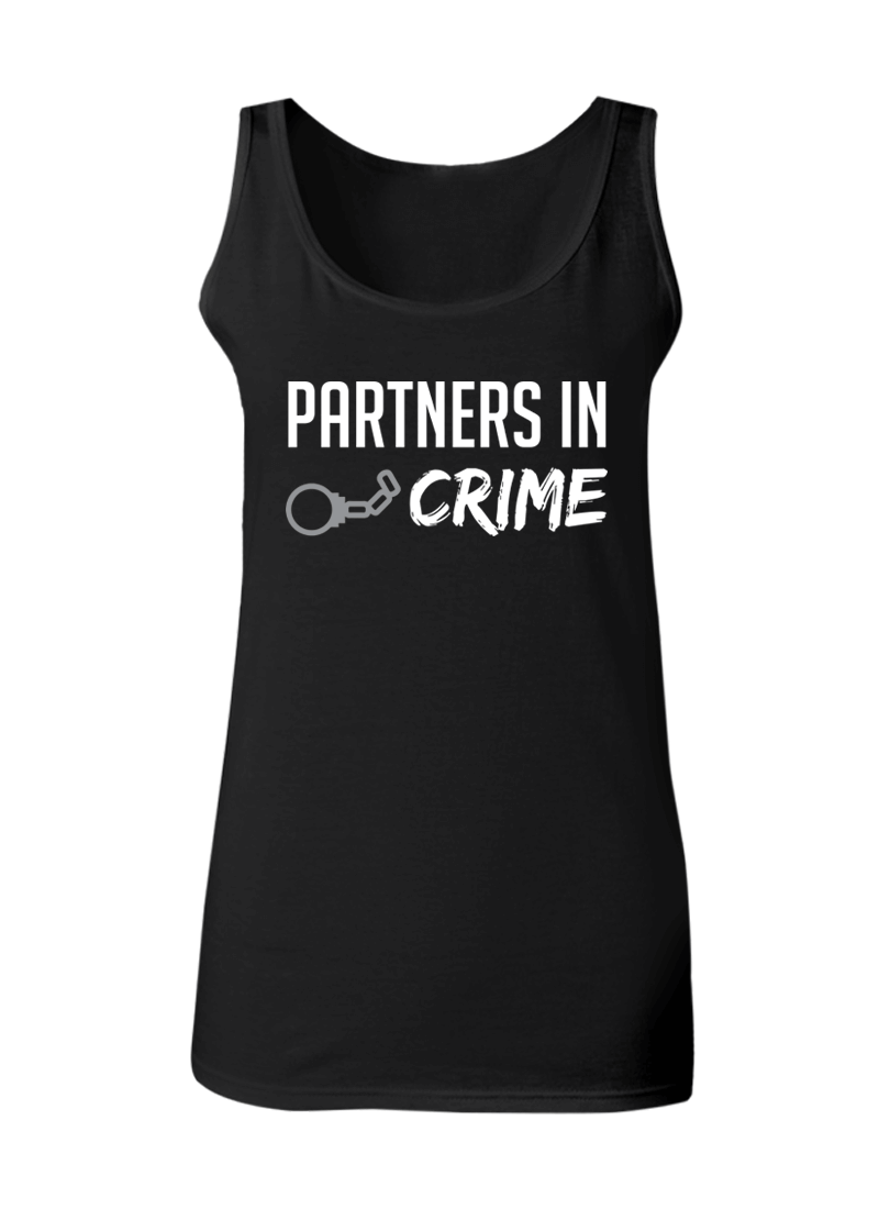 Partners in Crime - Couple Tank Tops