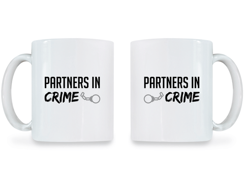 Partners in Crime - Couple Coffee Mugs