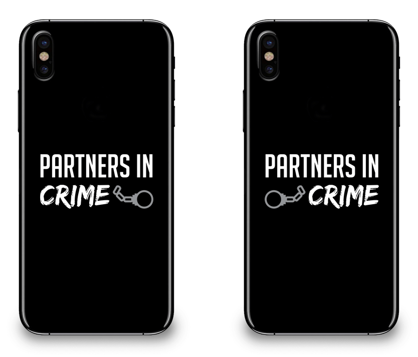 Partners in Crime - Couple Matching iPhone X Cases