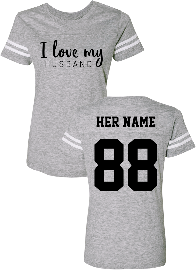 I Love My Wife & Husband - Couple Cotton Jerseys