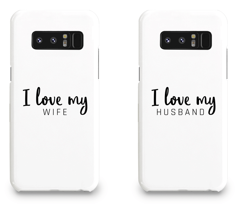 I Love My Wife and Husband - Couple Matching Phone Cases