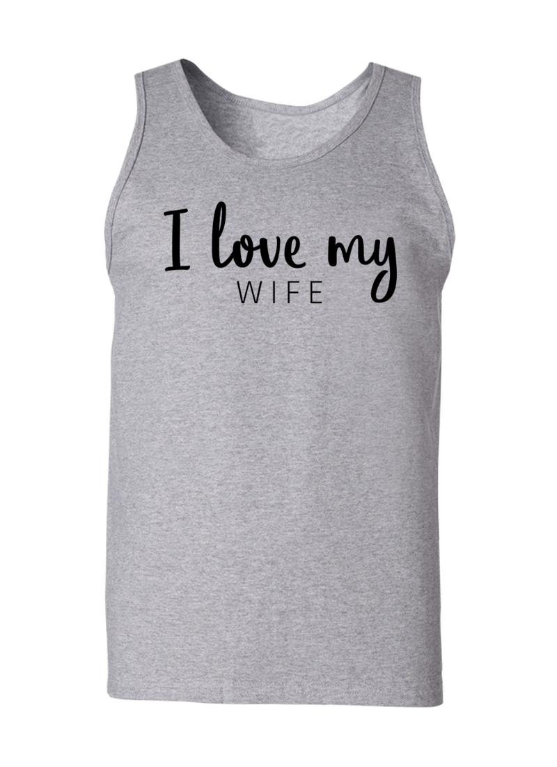 I Love My Wife & Husband - Couple Tank Tops