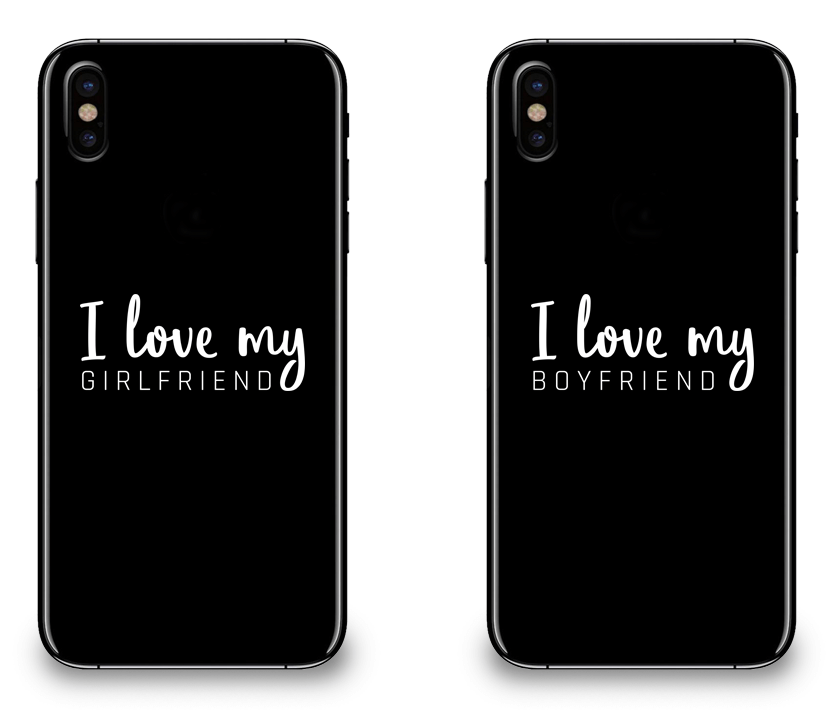 I Love My Girlfriend and Boyfriend - Couple Matching iPhone X Cases