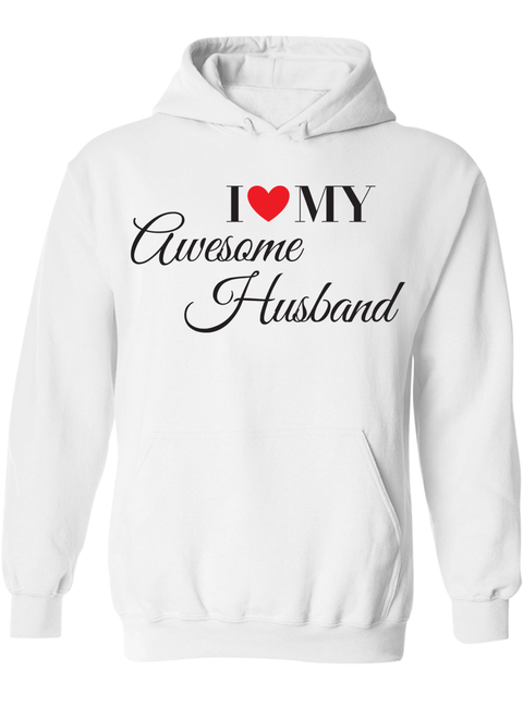 I Love My Awesome Wife & Husband  - Couple Hoodies