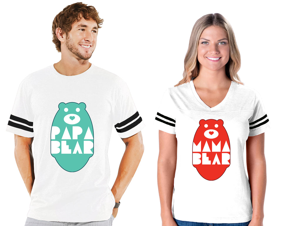 Mama Bear & Papa Bear - Couple Cotton Jerseys