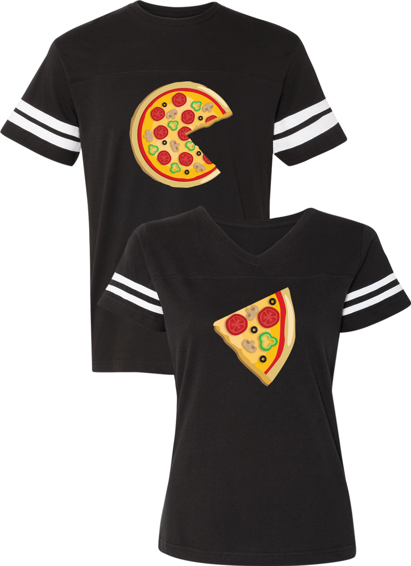 Piece Pizza and Slice Couple Sports Jersey