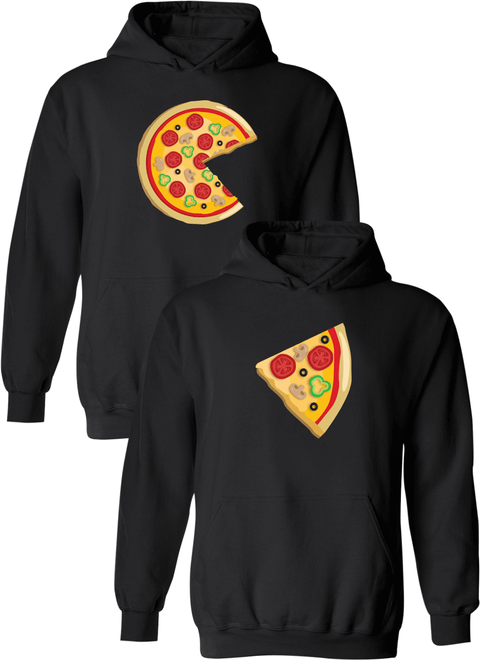 Piece Pizza and Slice Matching Couple Hoodies