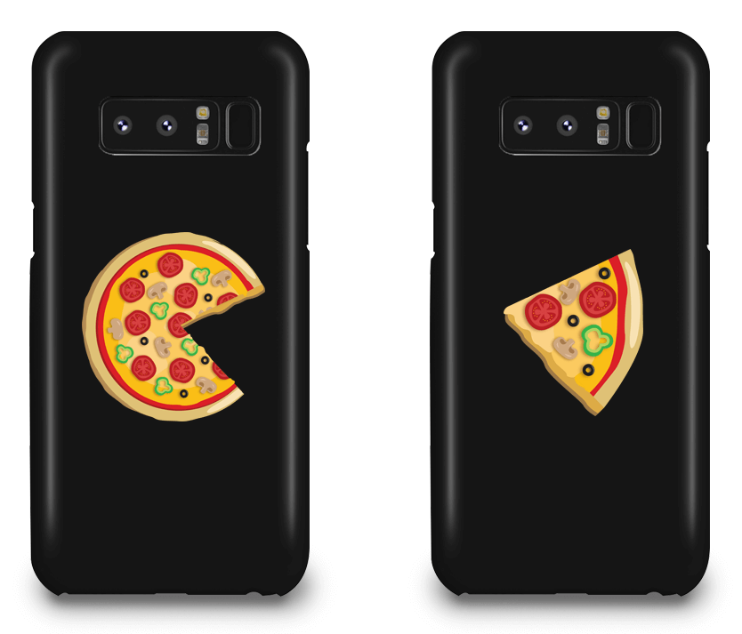 Piece Pizza and Slice - Couple Matching Phone Cases