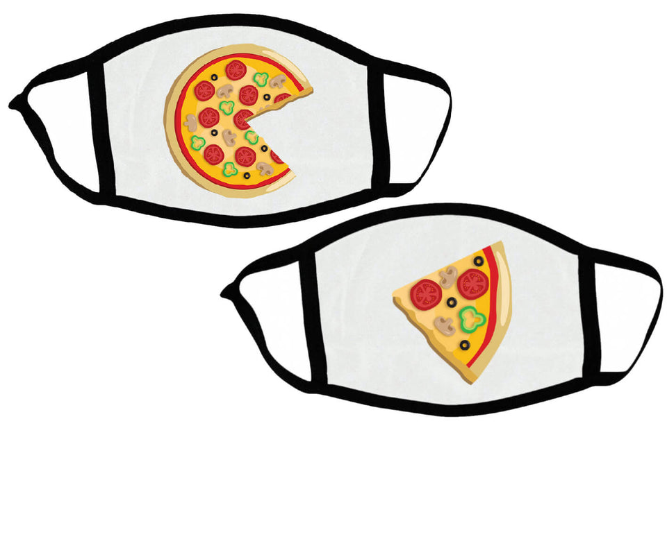 Piece Pizza & Slice - Couple Face Masks