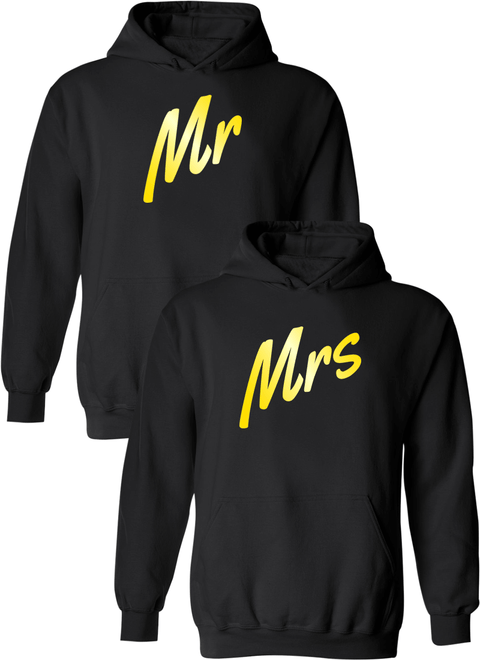 Mr. and Mrs. Matching Couple Hoodies