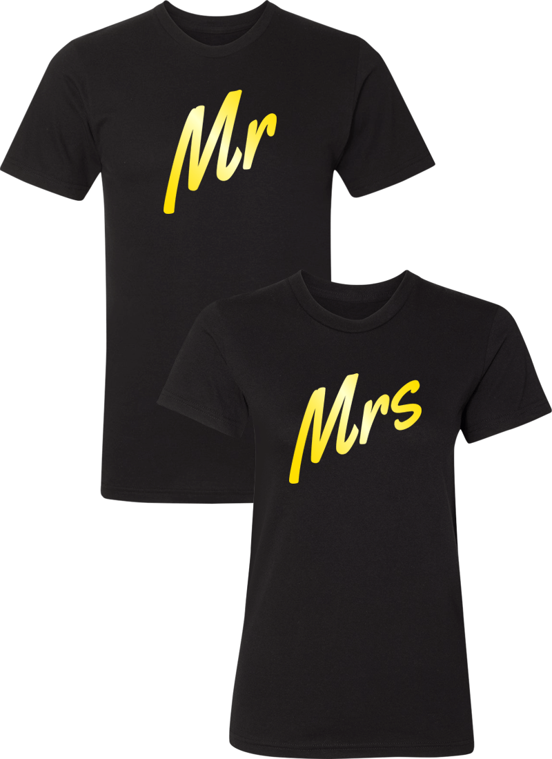 Mr. and Mrs. Couple Matching Shirts
