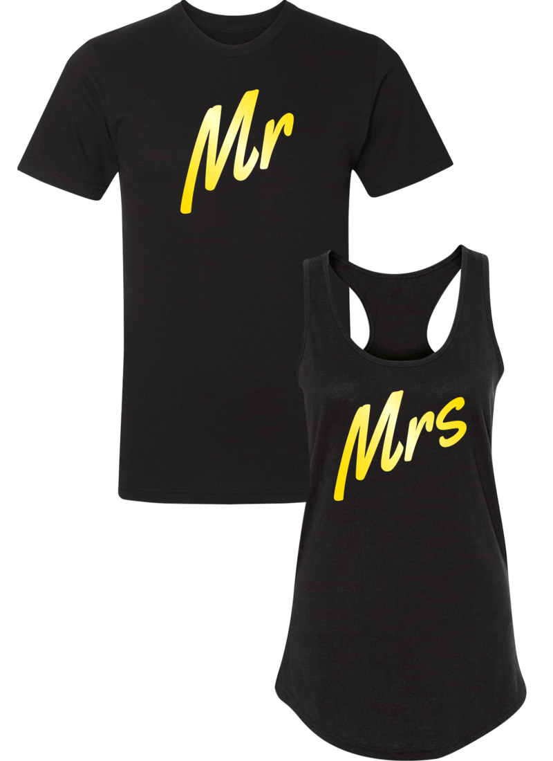 Mr. and Mrs. - Couple Shirt Racerback