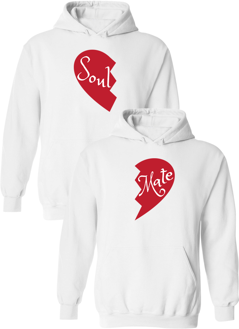 Soul and Mate Matching Couple Hoodies