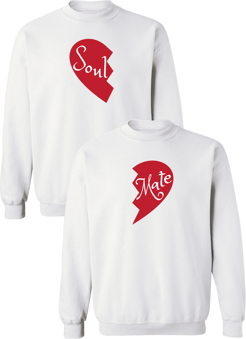 Soul and Mate Couple Matching Sweatshirts