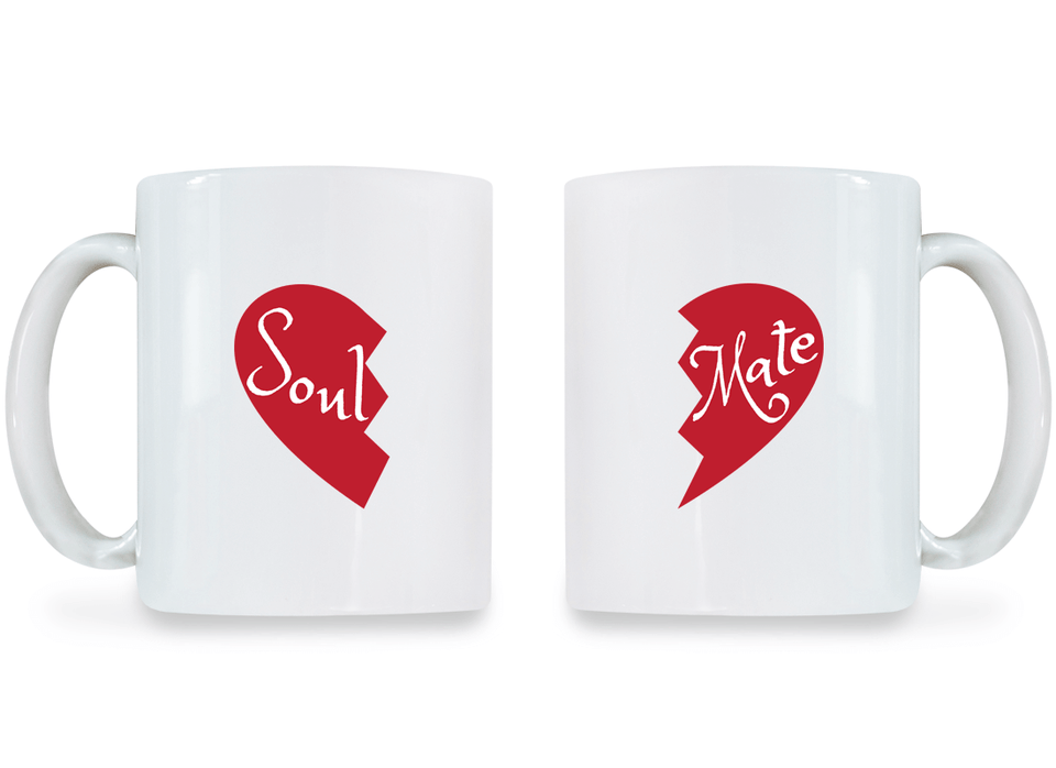 Soul and Mate - Couple Coffee Mugs